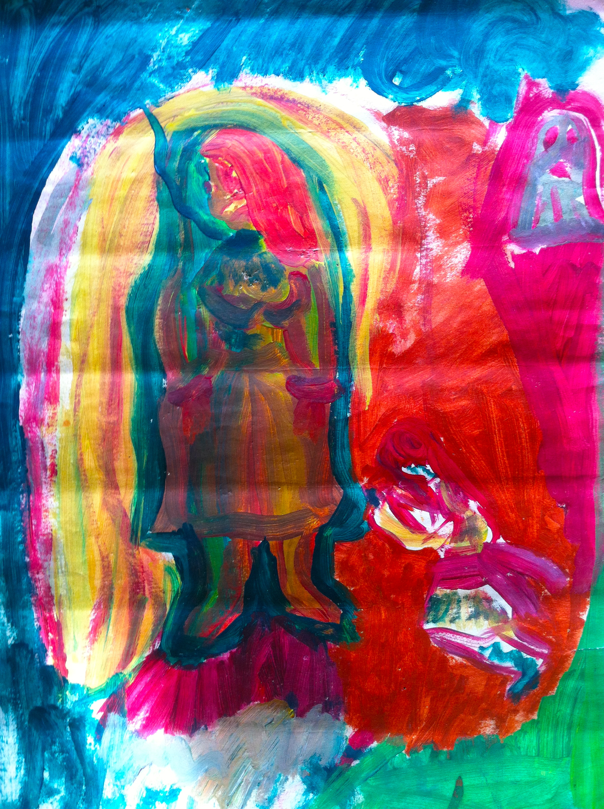 Barndoms målning Angelica Markén