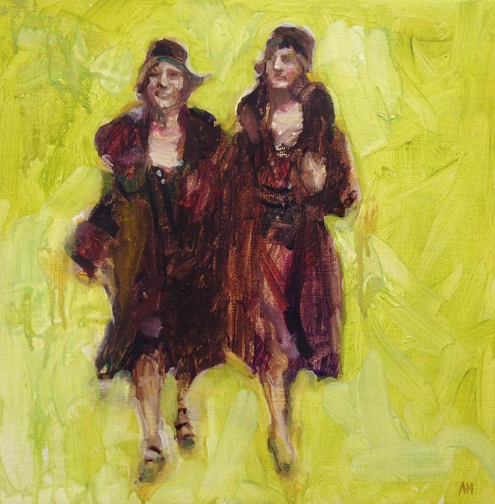 Ladies 30 x 30 cm, olja, 2014