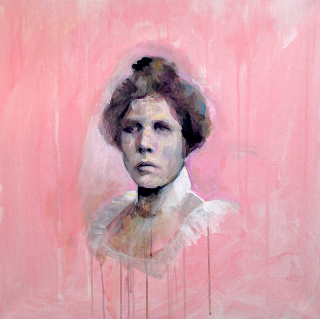 angelica markén The Housekeeper 70x70 cm, acrylic, 2014