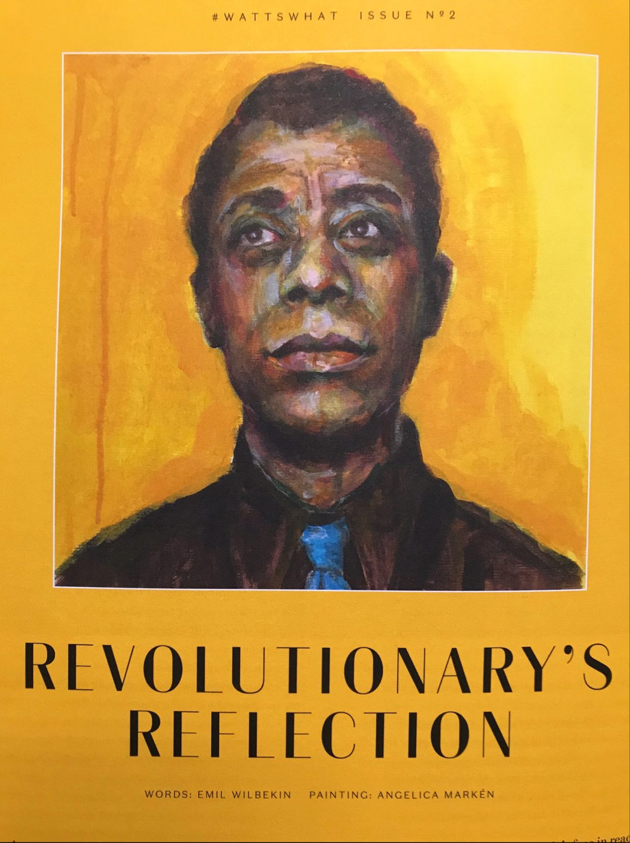 James Baldwin artist Angelica Markén 2018