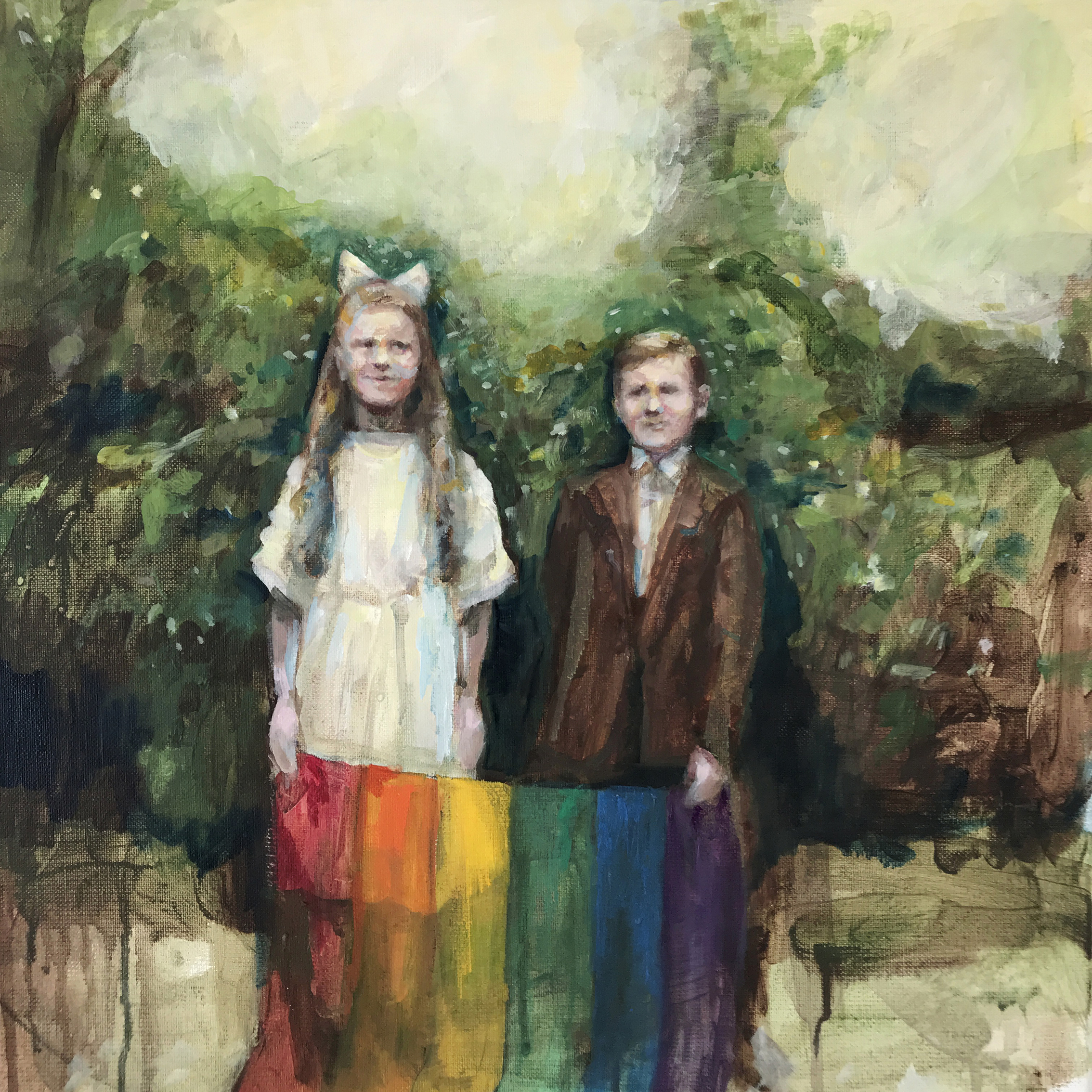 m The Heathens  |  40 x 40 cm  |  olja (2018)