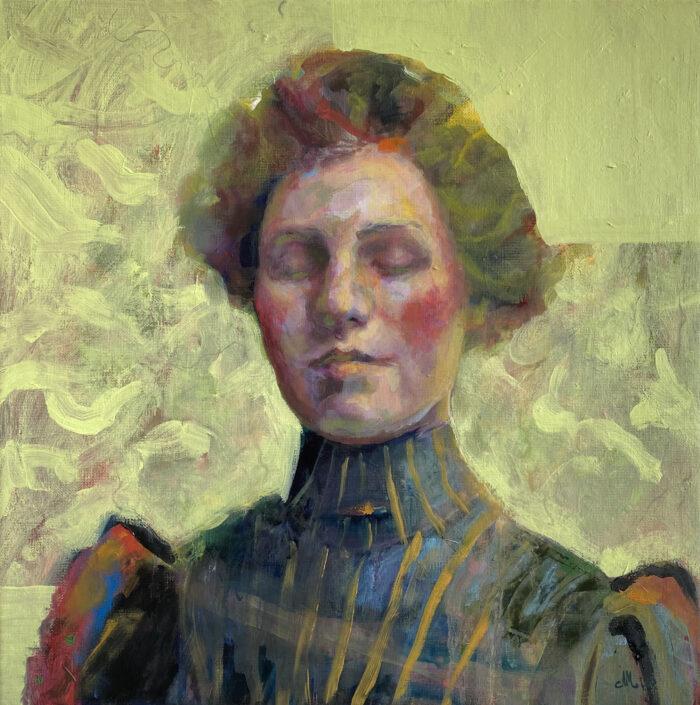 Kvinna med grönt Angelica Markén 2021