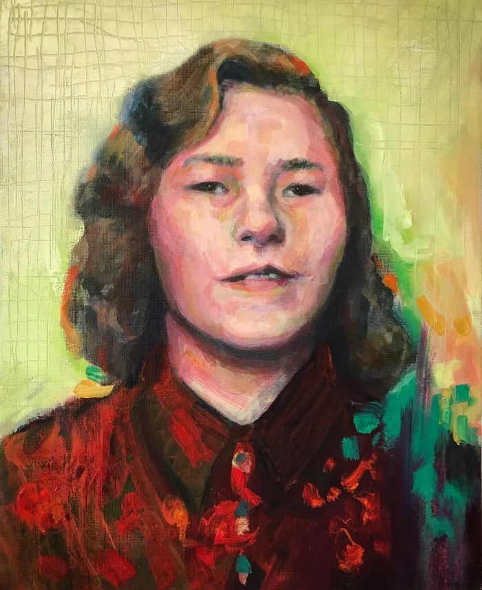 porträtt ung mormor angelica markén 2018